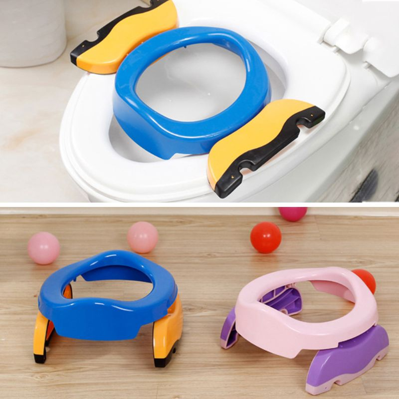 Bebe Childish Baby 2-in-one Portable Toilet Infants Kids Car Travel Foldable Potty Ring