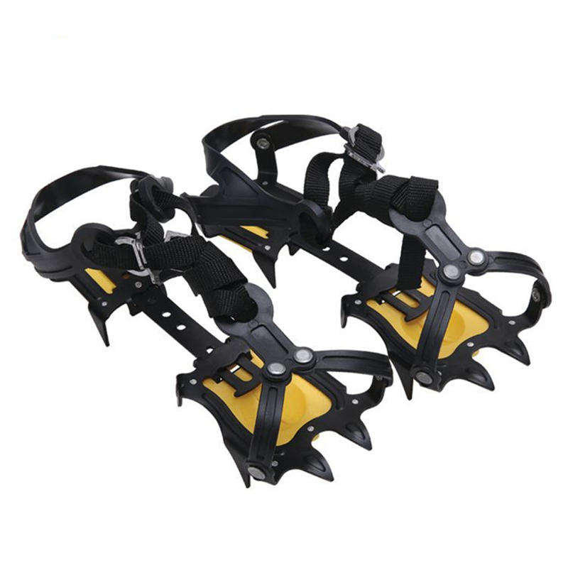 Ice-Gripper Cleats Shoe-Covers Crampons Anti-Slip 18-Teeth Boots Ice-Snow Hiking Climbing
