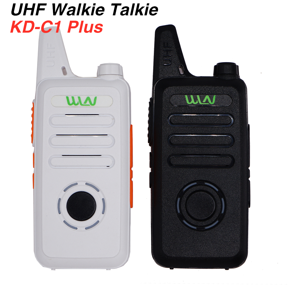 2pcs WLN KD-C1 Plus Walkie Talkie Upgrade KD-C1 Two Way Radio 400-520MHz Mini Slim Transceiver KD-C1plus UHF Band Radios Station