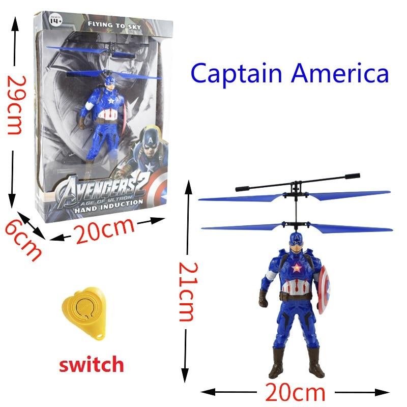 Mini Drone RC drone Fly The Avengers superhero Avengers Iron Man Hulk Captain America Superman Batman Induction aircraft toys