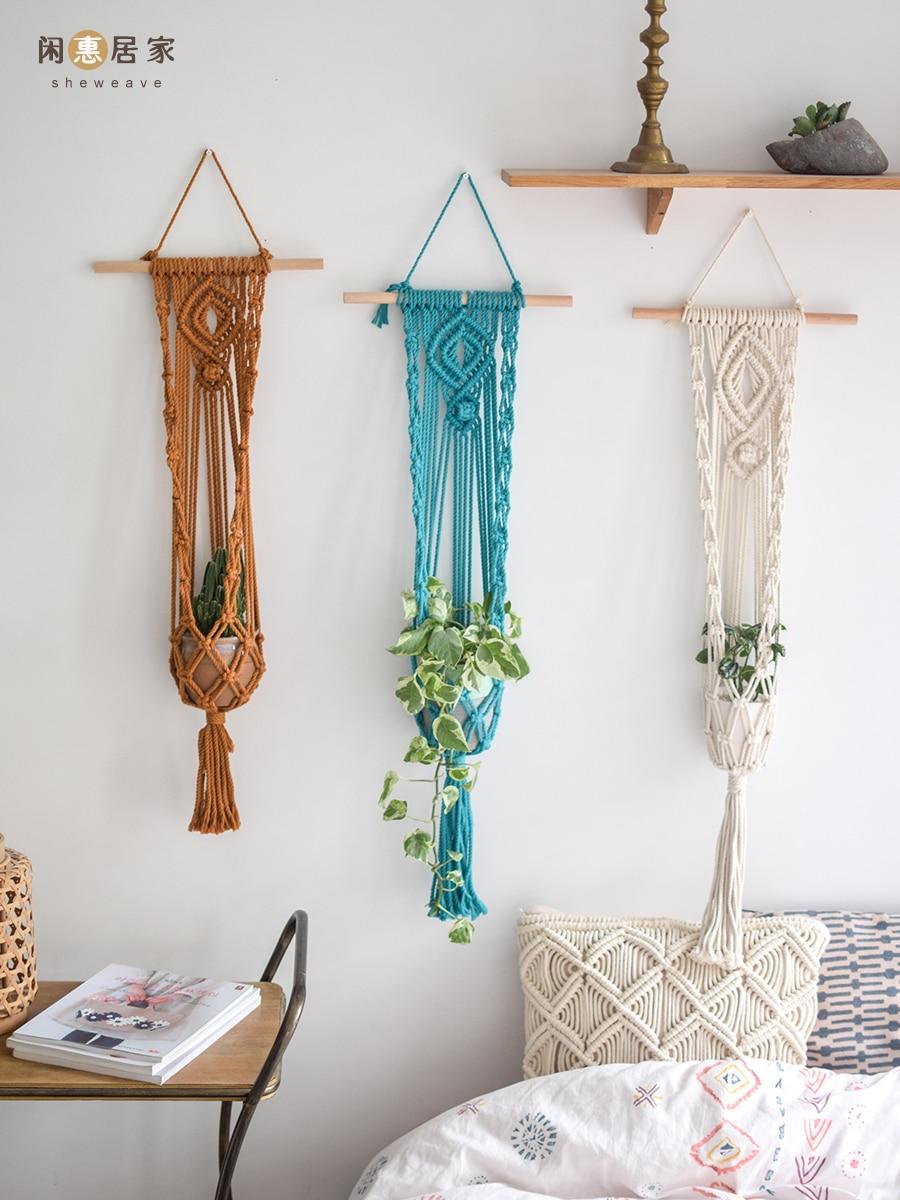 New Arrival Handmade Macrame Plant Hanger Pot Hanger For Garden Home Balcony