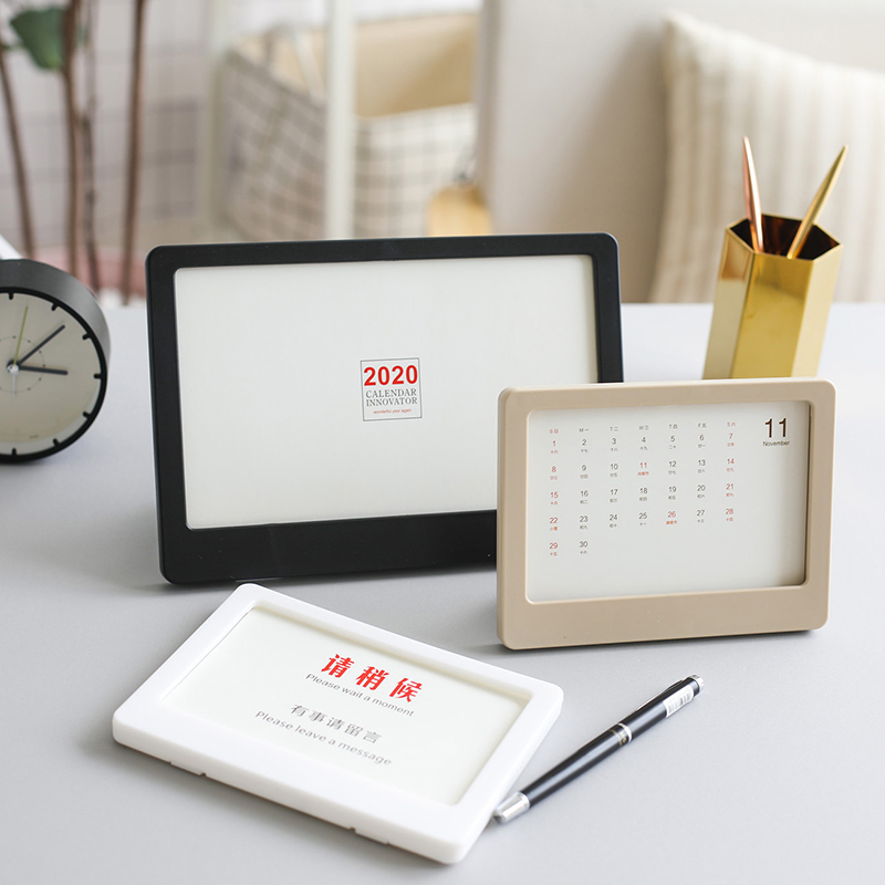 Office Decoration Desk Calendar 2020 Table Calendar Photo Frame Customize Calendar