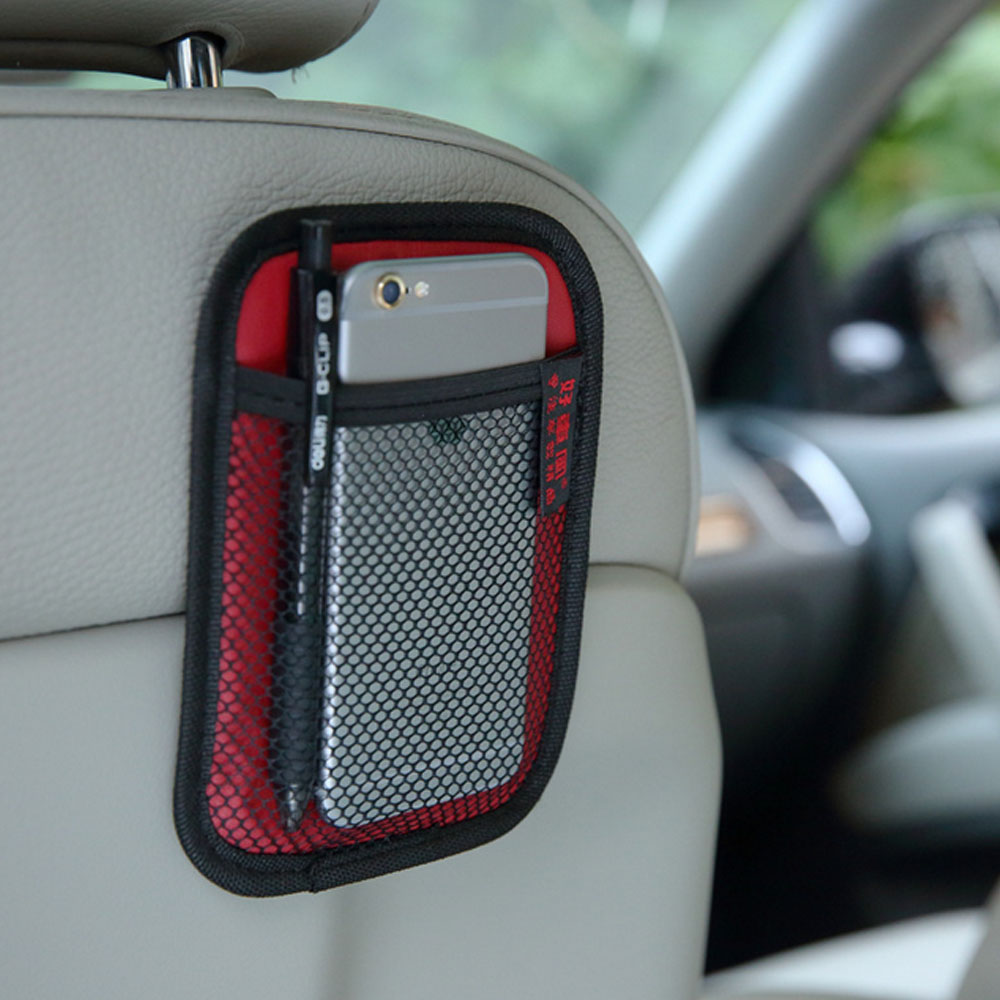 Car Storage Net Bag Pocket Stowing Tidying Phone Holder Car Styling Auto Interior Accessories Car Organizer Stowing Tidying