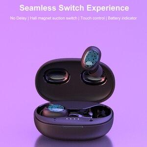 Image 2 - Tiso i6 double mode sans fil écouteurs contrôle tactile sans couture Bluetooth 5.0 casque antibruit micro 3D TWS stéréo casque