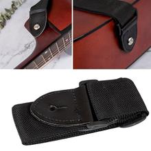 68cm-124cm Universal Adjustable Nylon Guitar Strap with PU Leather Ends for People Wooden Classic