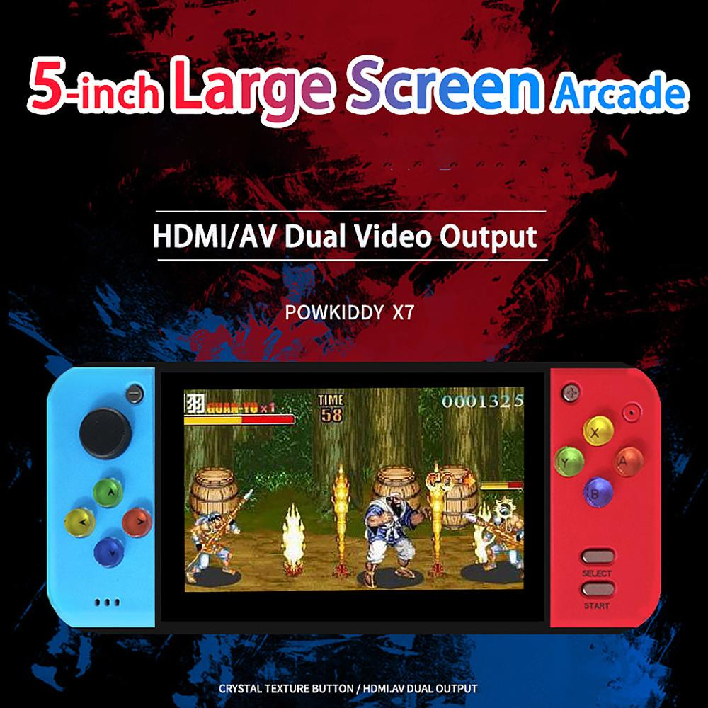 powkiddy X7 5.0inch RETRO Handheld Game Console Video Gaming Players MP4 MP5 Playback Built-in 200 games TF extension HDMI TVout