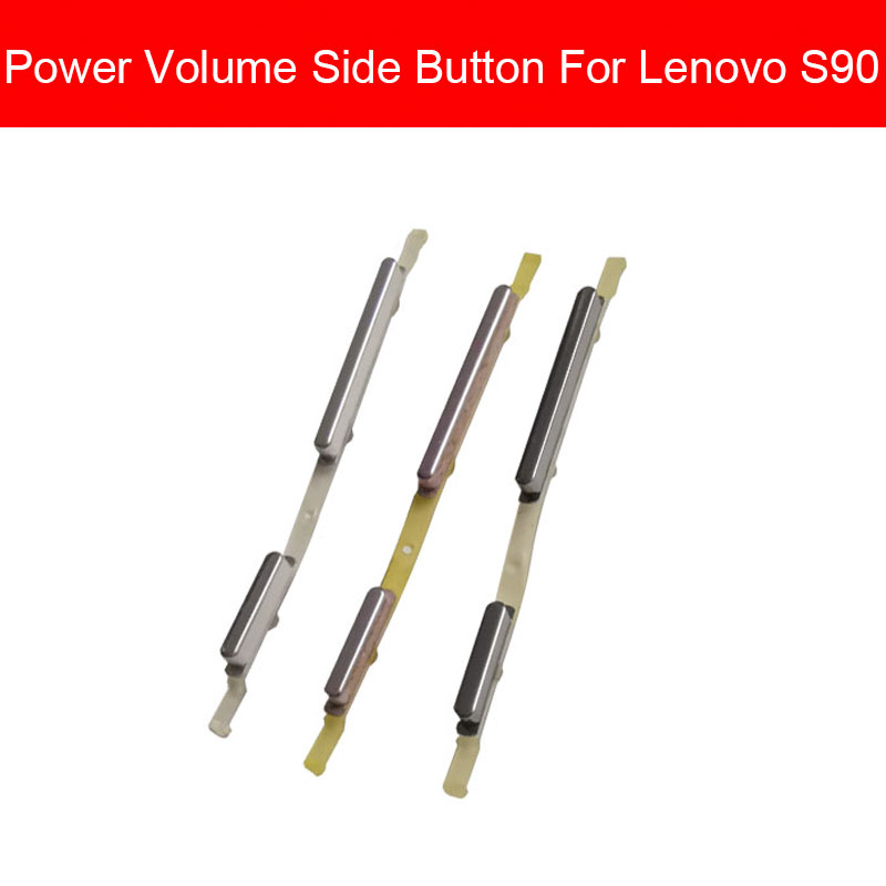 Volume + Power Control Side Buttons For Lenovo Sisley S90 Power Volume Switch Side Keypad Cell Phone Replacement Repair Parts