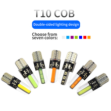 2/4/8pcs New T10 LED Canbus T10 COB LED w5w 194 168 Car COB Silicone Marker Lights Clearance Lights  License Plate Lamp 12V yumseen 10pcs car styling t10 w5w cob led 2w pure white clearance light marker lamps license plate lights new arrivval