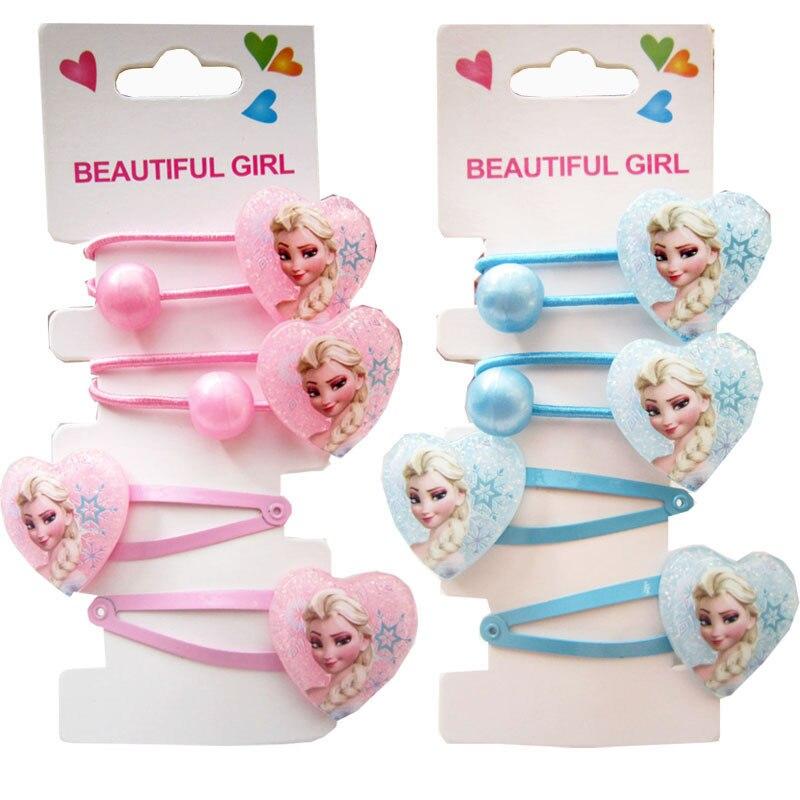 Disney Frozen Children Cute Cartoon  Hairball Ornament Hair Clips Girls  Hairpins Kids Baby Hair Accessories For Children Girl