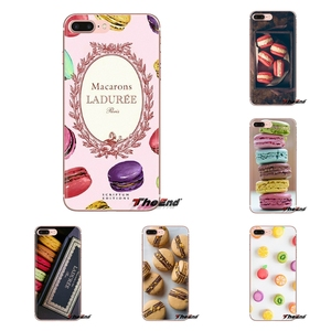 Transparent Soft Covers dessert ice cream laduree Macarons For iPod Touch Apple iPhone 4 4S 5 5S SE 5C 6 6S 7 8 X XR XS Plus MAX