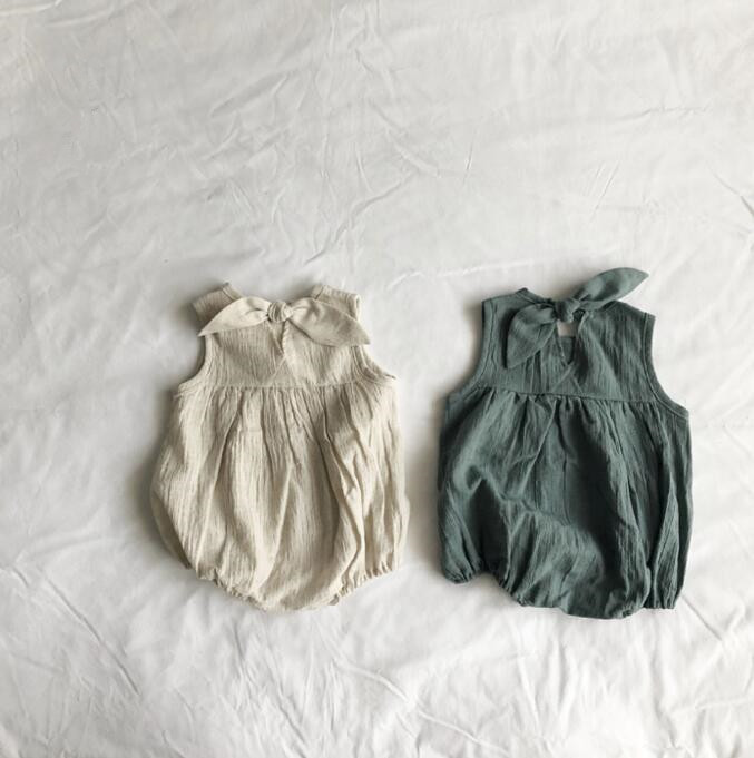 Korean Spring And Summer Baby  Sleeveless  Clothes Baby Bodysuit  Romper  Baby Girls Clothes