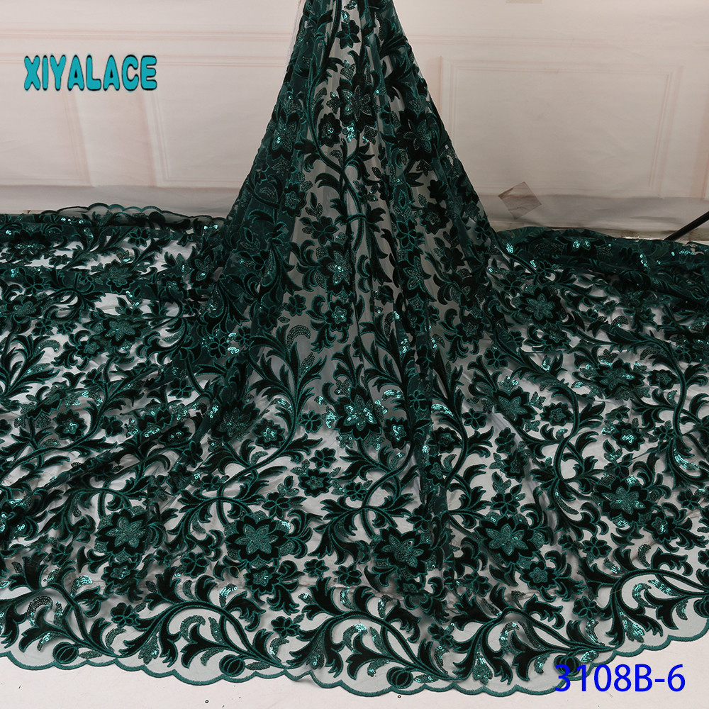 High Quality Cotton Lace Fabric 2019 Latest Design Swiss Voile With Sequins  In Switzerland For Party Dress YA3108B-6