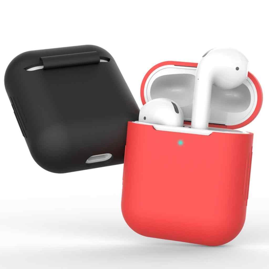 Para AirPods TPU silicona Bluetooth auriculares inalámbricos funda cubierta protectora piel accesorios para Apple Airpods caja de carga