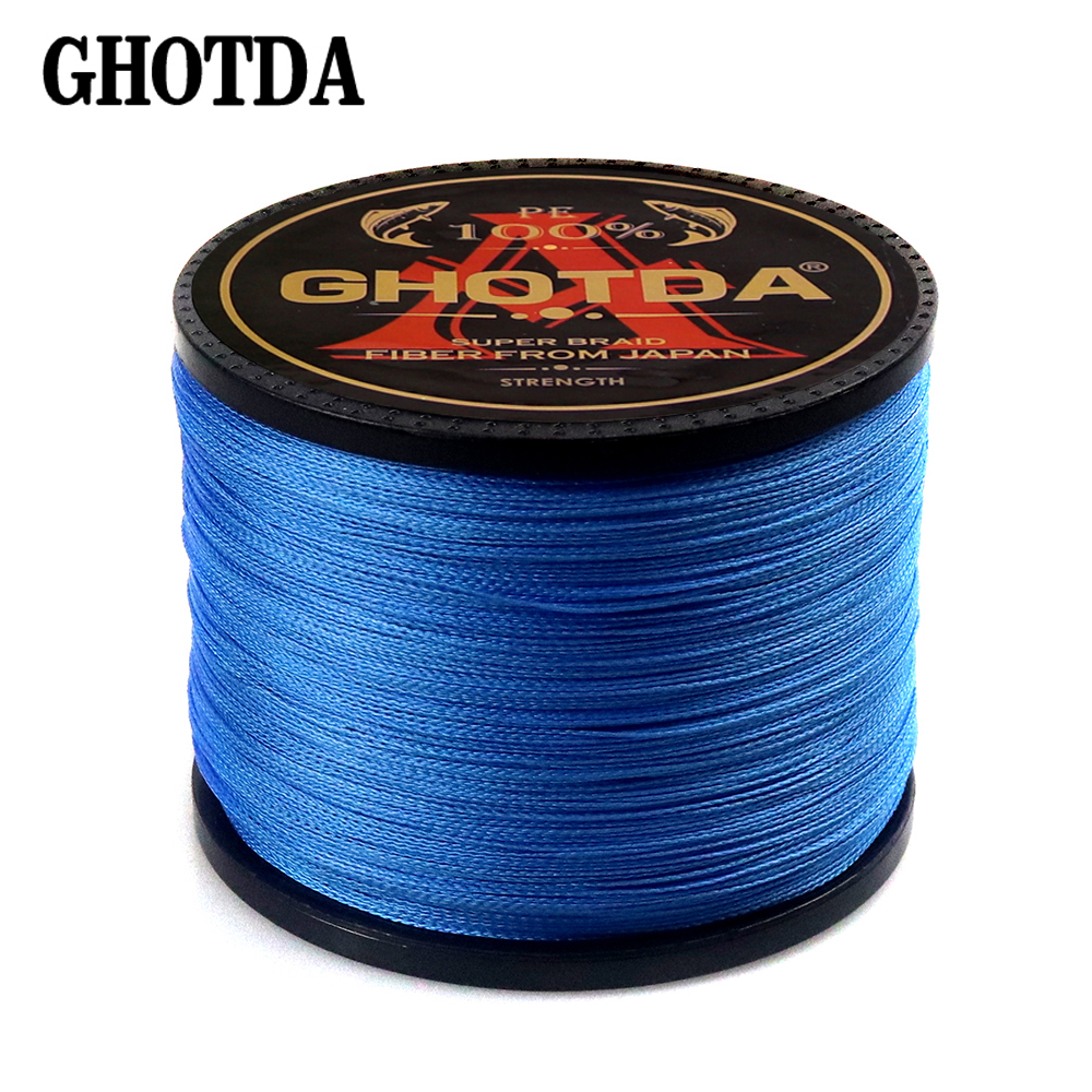 GHOTDA 8 Strands PE Braided Fishing Line Saltwater Fishing Weave Extreme Super Strong Super Power Casting 100M