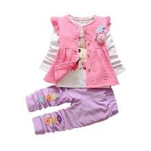 Модные детские хлопковые костюмы для девочек; Сезон весна осень;