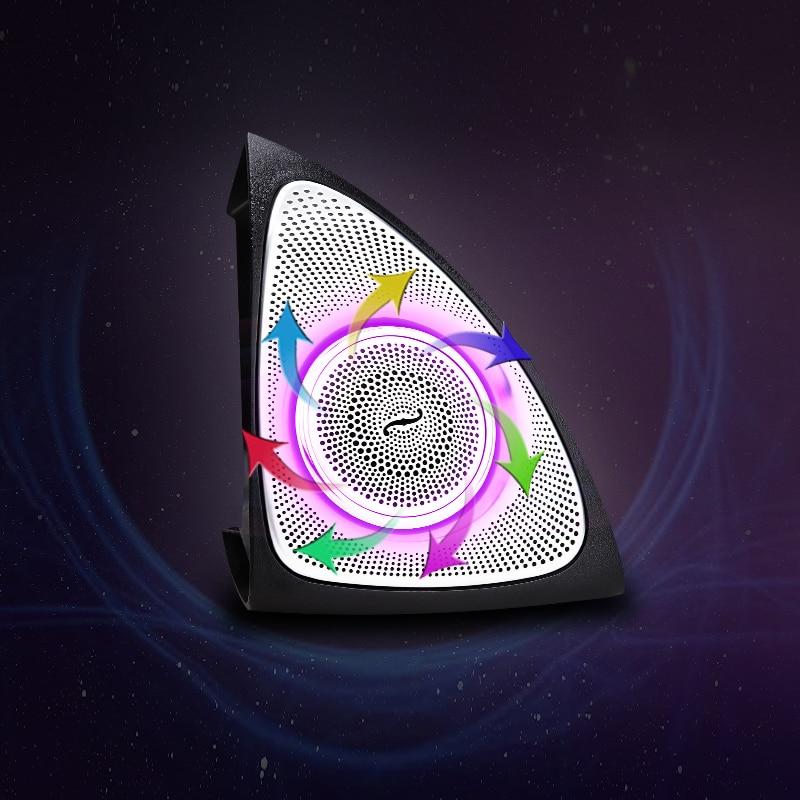 Image 2 - Luz LED de tweeter giratoria de 64 colores para luces de ambiente W213 para Mercedes benz Clase E, altavoces agudos laterales de puerta izquierda y derecha para cocheBocinas multitono y claxon   -