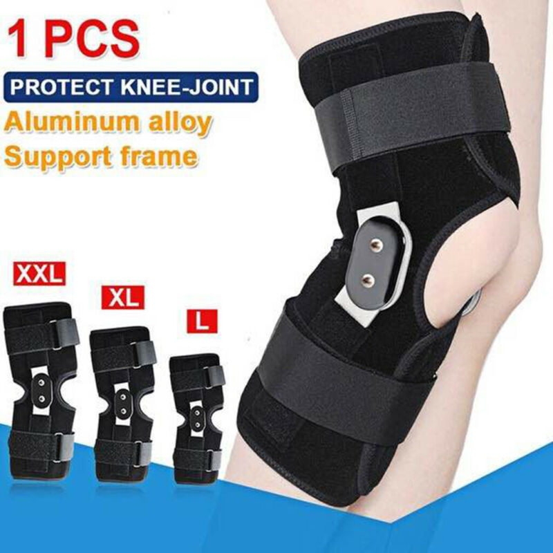 Adjustable Knee Sleeve 2020 New Black Hinged Knee Brace Patella Support Tendonitis Relief Jumpers Protector
