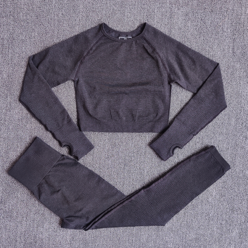 ShirtsPantsBlack - Women Seamless Yoga Set Fitness Sports Suits