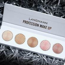 5 cores shimmer highligter pó paleta clarear bronzeador facial alto brilho destaque maquiagem reparação iluminador reparo natural