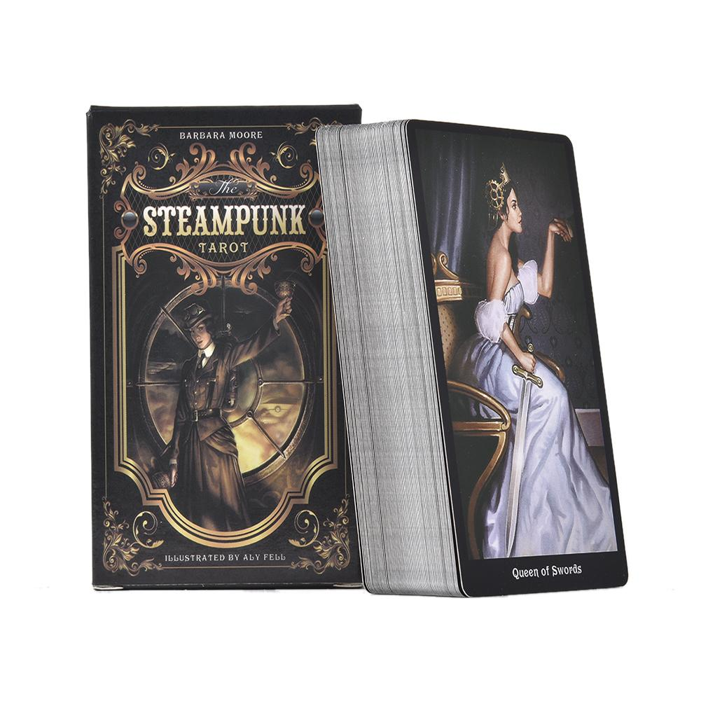 78PCS English The Steampunk Tarot Cards Table Deck Board Game For Family Gathering Party Playing Card Games Entertainment