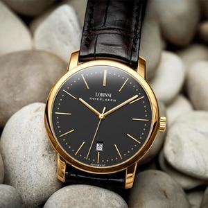 Image 5 - Switzerland relojes LOBINNI para hombre, cronógrafo mecánico Manual de Marca de lujo, Venus, L12028 4 de zafiro para hombre