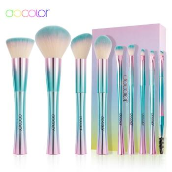 Docolor 9pcs Makeup Brushes Set Cosmetic Powder Eye Shadow Foundation Blush Blending Beauty Make Up Brush Tool Synthetic Hair 10pcs professional makeup brushes set powder foundation eye shadow beauty face blusher cosmetic brush blending tools