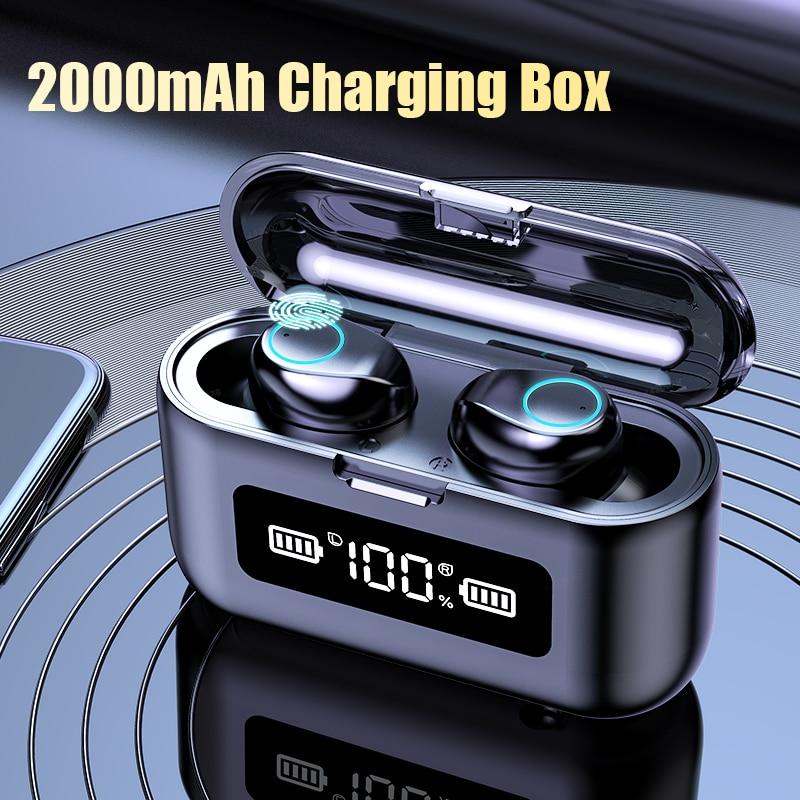 Wireless Earphones 2000mAh Charging Case LED Display Waterproof Headphone With Microphone TWS Wireless Bluetooth 5.0 Headphones