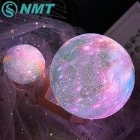 Dropship 3D Gedrukt Ster Maan Lichten Kleurrijke Oplaadbare Touch Nacht Lampen Home Decor Creative Gift Usb Led Nachtlampje