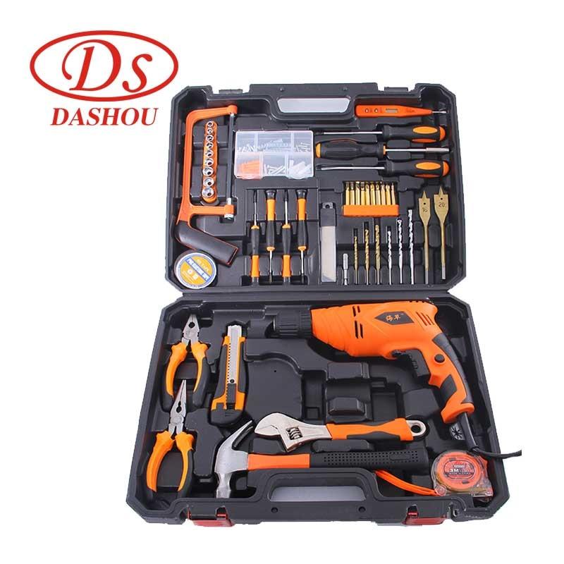 DS электрическая дрель ремонт электроприборов набор электроинструментов многофункциональный бытовой деревообрабатывающий ремонт