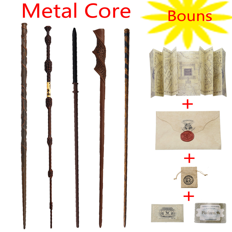 New 34 Kinds Of Potter Magic Wand With Gift Box Packing Metal-Core Magic Wand For Kids Cosplay Harried Magical Wand With Bonus