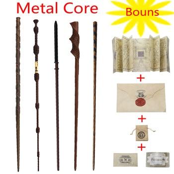 цена на New 34 Kinds of Potter magic Wand With Gift Box Packing Metal-Core Magic Wand For Kids Cosplay Harried Magical Wand With Bonus