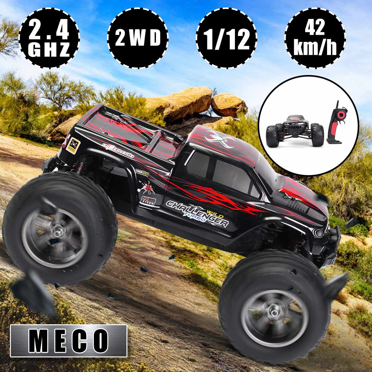 <font><b>1</b></font>:<font><b>12</b></font> <font><b>2</b></font>.4GHz RC Car Kids Power Remote Control Cars Boys Toys Gift High Speed Racing Car Bigfoot Climbing Electric Off Road Truck image