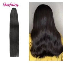 Gazfairy Tape in Human Hair Extensions Natural Real Remy 16'' 30g Silky Straight shine Brown to Blonde ins For Women
