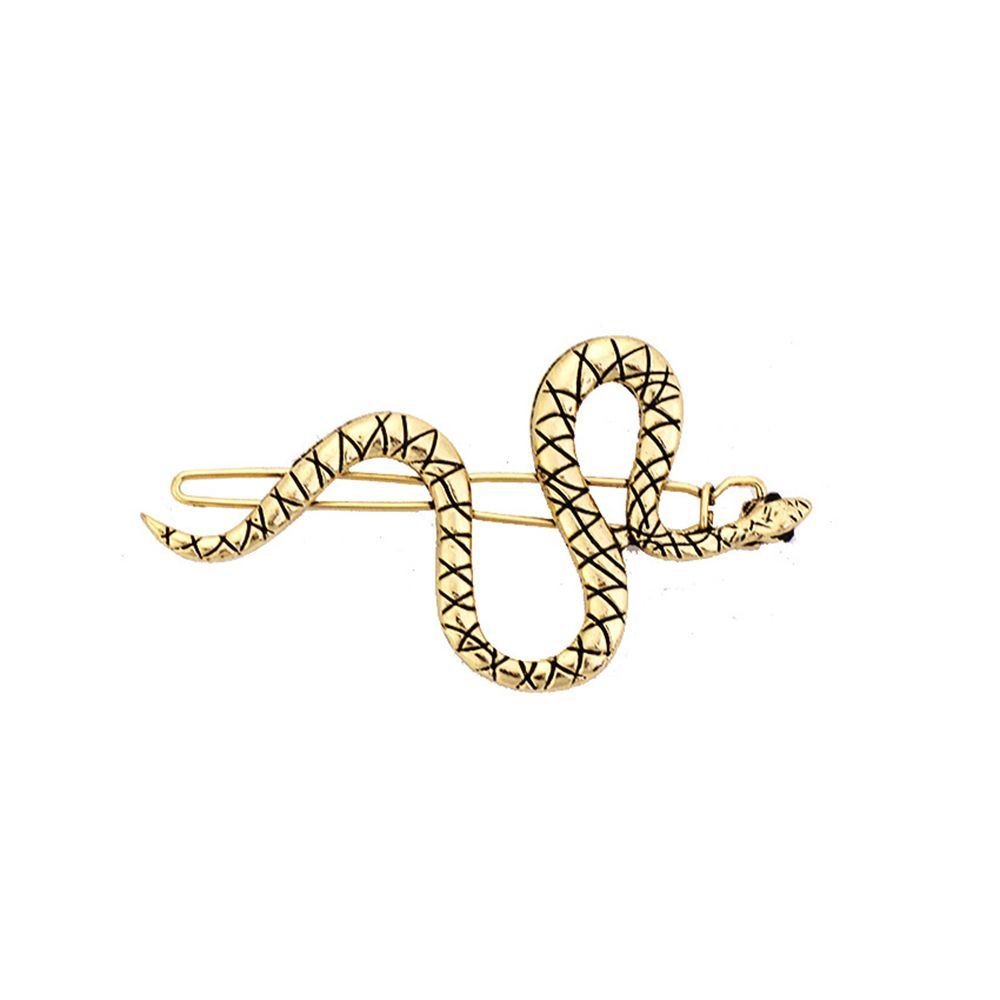Punk Simple Hairpins Snake Animals Gold Metal Hairpins Hair Clips For Women Wedding Headpiece Hairgrips Hair Accessories styling
