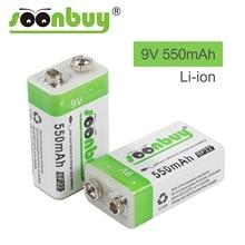 9 V 6F22 550mAh 리튬 이온 충전식 배터리 마이크로 USB 배터리 9 v 리튬 멀티 미터 마이크 장난감 원격 제어 KTV