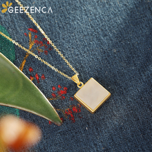 925 Sterling Silver Pendant Necklace Hetian Jade Geometric Square Necklace Fine Jewelry for Women Original Design Simple Trendy 925 sterling silver natural hetian white jade handmade hair sticks magpie butterfly design hairwear for women charms jewelry