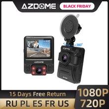 מקורי AZDOME GS65H דאש מצלמת מיני כפולה עדשת רכב DVR Novatek 96655 מלא HD 1080P רכב מצלמה ראיית לילה עבור סופר Lyft מונית