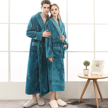 Nightgowns Flannel Thicken Winter Women for And Lengthen Autumn Spliced Upgrade Classic