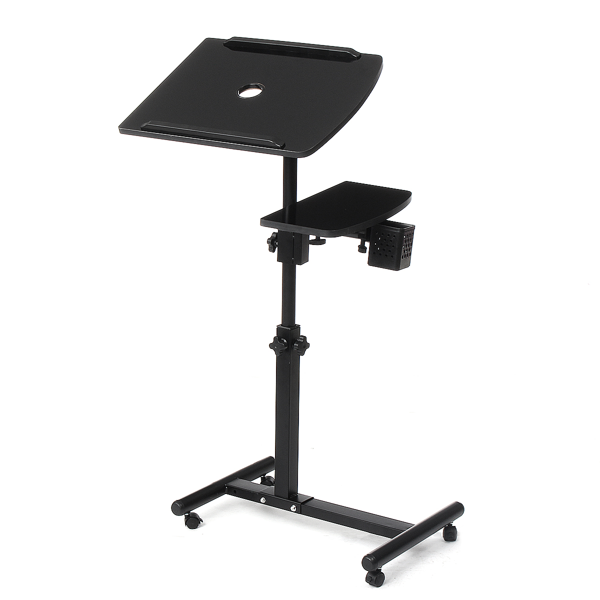 Mobile Laptop Stand Table For Bedside Sofa Laptop Adjustable Table Notebook Desk With Roller Home Office Computer Desk