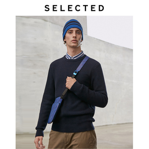 Image 4 - Geselecteerd Mannen O hals Winter Trui Pure Kleur Business Casual Knit Truien Kleding S