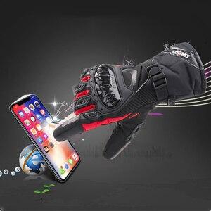 Image 4 - Winter Warme Motorrad Handschuhe Wasserdicht Touchscreen Schutz Guantes Moto Motocross Handschuhe für Motorrad Motocicletas