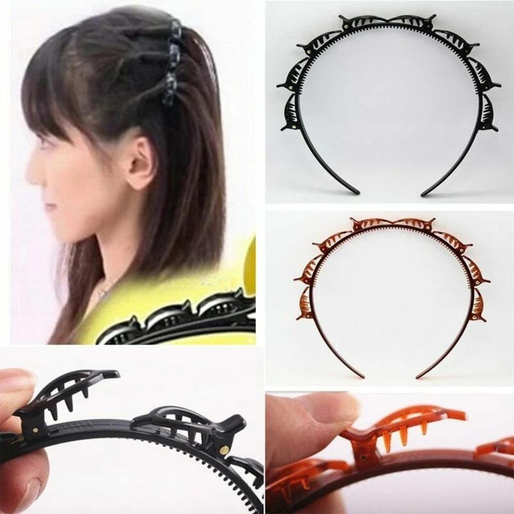 Двойная челка, Шпилька для волос, повязка для волос, волшебные зажимы для волос, повязка на голову, аксессуары для волос, красота, тонкая шпил...