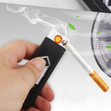 1Pcs Windproof USB Lighter Smoke Accessories Electronic Cigarette Lighters Rechargeable encendedor isqueiro No Gas Butane