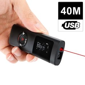 Image 1 - KKMOON Handheld Multifunctional 40M LCD Digital Laser Rangefinder Mini USB Charging Laser Distance Meter for Interior Decoration