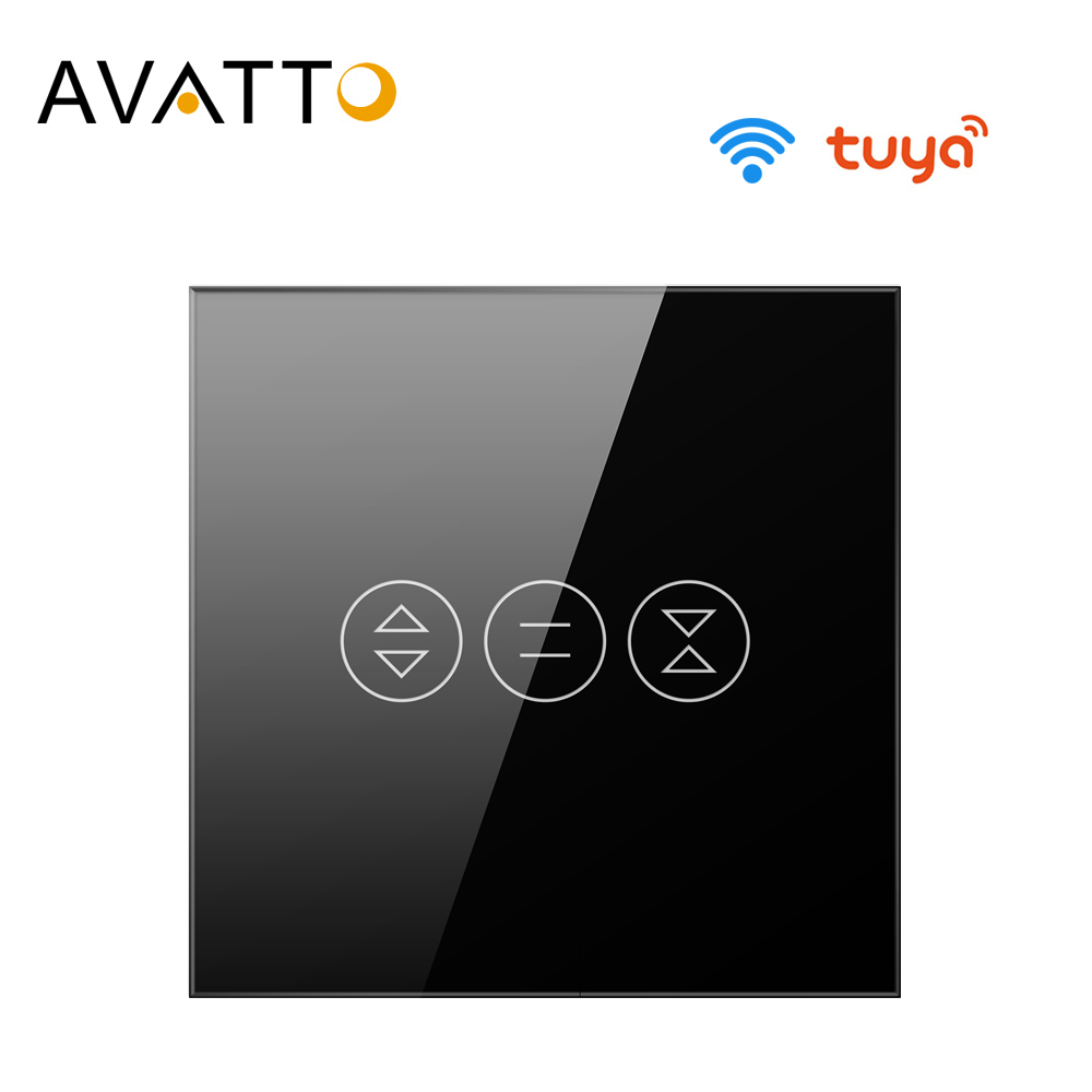 AVATTO Tuya EU WiFi Curtain Switch for Electric motor Roller Shutter, Blinds Smart Home Automation Work for Alexa,Google Home