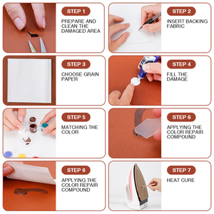 Image 4 - LUDUO DIY Liquid Leather Repair Kit Vinyl Furniture Paint Car Seats Sofa Shoes Jacket Skin Restore Cleaner Refurbish with Cloth