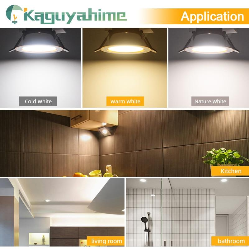 =(K)= LED Downlight Natural White/Warm/Cold 5w 3w LED Spot Light Indoor Recessed Lamp AC 220V LED Spotlight Round Panel Lamp 5