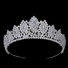 Hadilana corona Diamante de imitación Estilo Vintage AAA, Tiaras para el pelo con forma de ojo grande, accesorios de boda, color amarillo, dorados fiesta, BC3707
