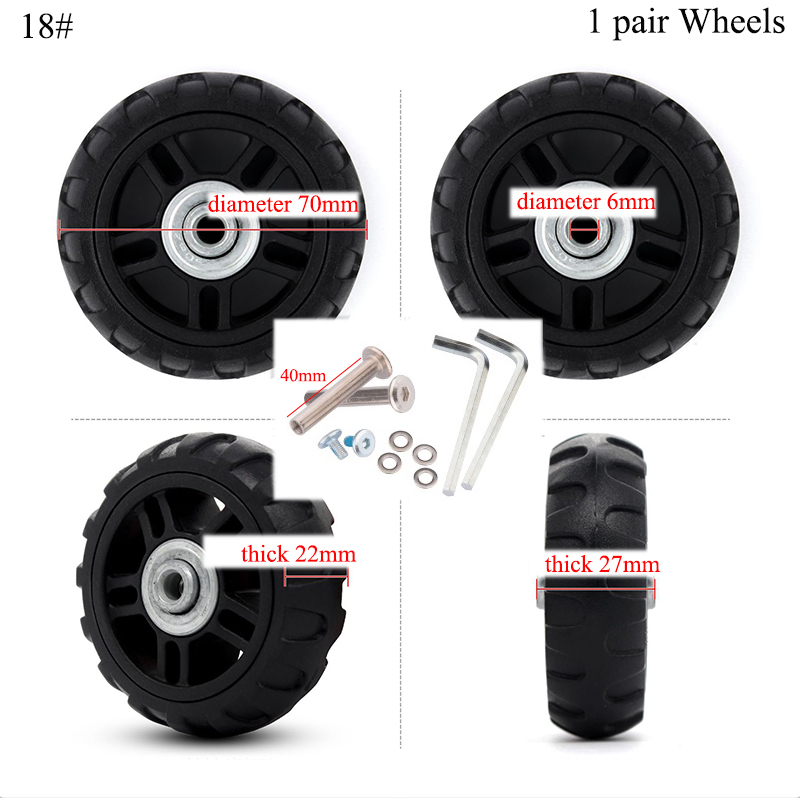 Factory Direct Sale Axles Deluxe Repair Deluxe Repair Tool Casters Suitcase Wheels 1 Pair Of Luggage Suitcase Replacement Wheel