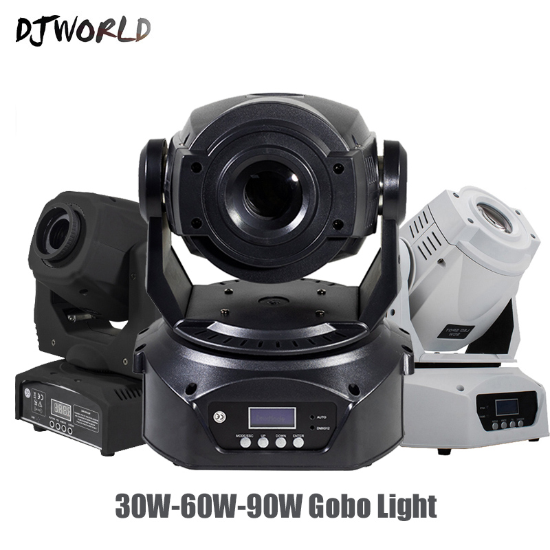 Djworld LED 30W/60W90W Spot Moving Head Lighting 6 Prisms DMX Control Gobo Strobe Lamp For Disco Dj Party Stage Lights Equipment